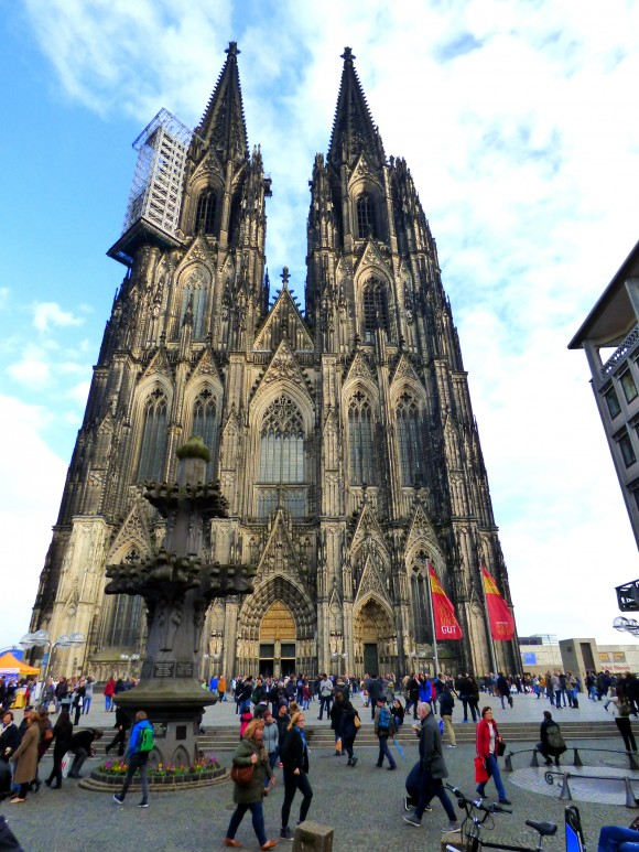 Cologne Cathedral, a renowned monument of Gothic architecture, is Germany's most visited landmark and has the largest façade of any church in the world. (Barbara Angelakis)