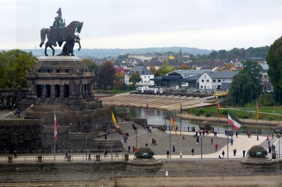 Statue of Kaiser Wilhelm I in Koblenz. (Barbara Angelakis)