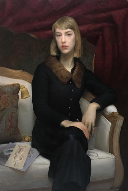 """Abigail Tulis,"" 2016,  by Brendan Johnston. Oil on linen, 48 inches by 32 inches. (Brendan Johnston)"