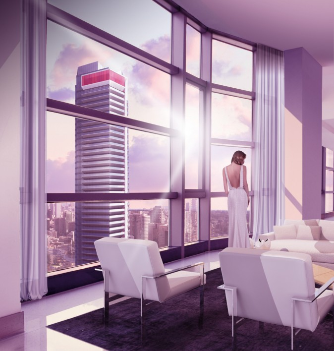 Rendering of the Icona Towers (Courtesy The Gupta Group)
