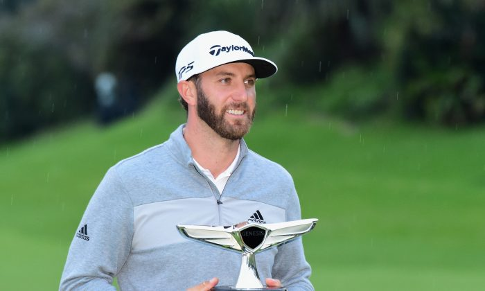 Dustin Johnson after the final round at the Genesis Open at Riviera Country Club on Feb. 19, 2017 in Pacific Palisades, California. (Harry How/Getty Images)