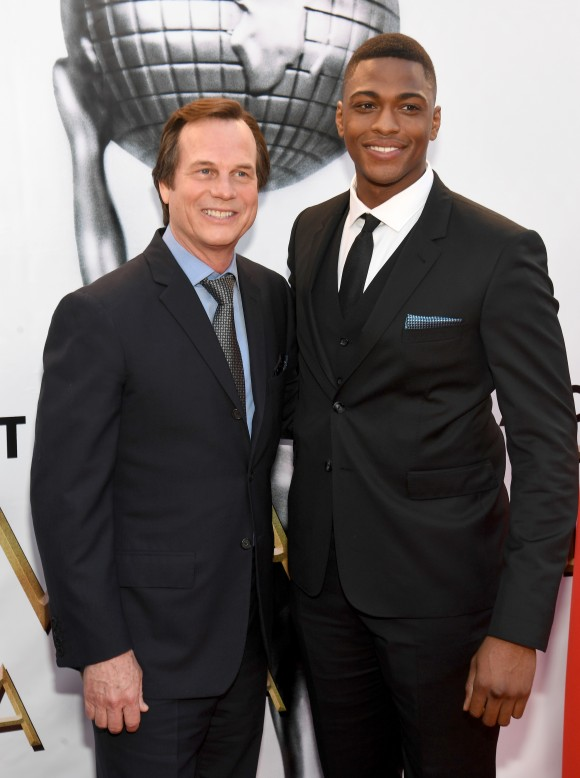 Actors Bill Paxton (L) and Justin Cornwell attend the 48th NAACP Image Awards at Pasadena Civic Auditorium in Pasadena, California on Feb. 11, 2017. (Paras Griffin/Getty Images )