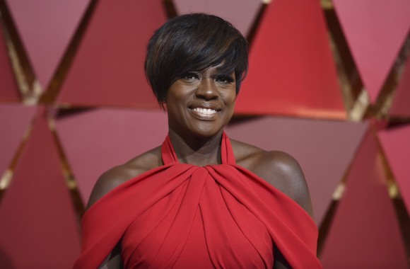 Viola Davis arrives at the Oscars on Sunday, Feb. 26, 2017, at the Dolby Theatre in Los Angeles. (Richard Shotwell/Invision/AP)