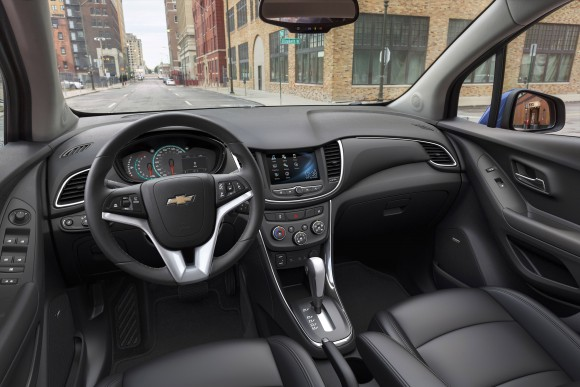 The interior of the 2017 Trax. (Courtesy of Chevrolet)