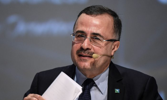 Amin al-Nasser, president of Saudi Aramco, delivers a speech during the 23rd World Energy Congress in Istanbul on Oct. 11, 2016. Saudi Arabia plans to sell roughly 5 percent of Saudi Aramco shares with listings on both the Saudi stock exchange and at least one international stock exchange. (OZAN KOSE/AFP/Getty Images)