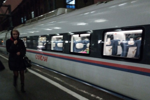 Sapsan-high-speed-train from St Petersburg to Moscow. (Vlatka Vovanovic)