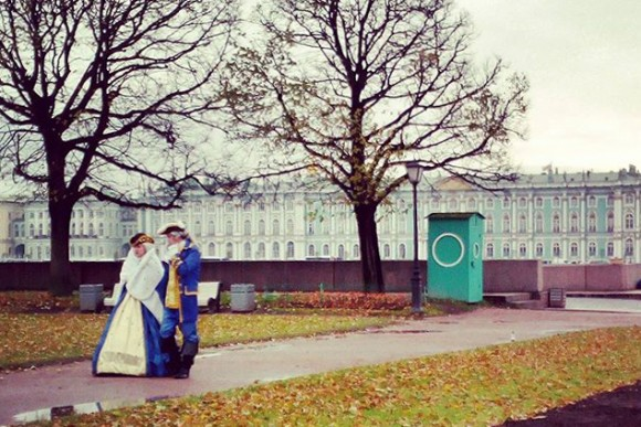 Hermitage Museum as backdrop in St Petersburg. (Vlatka Jovanovic)