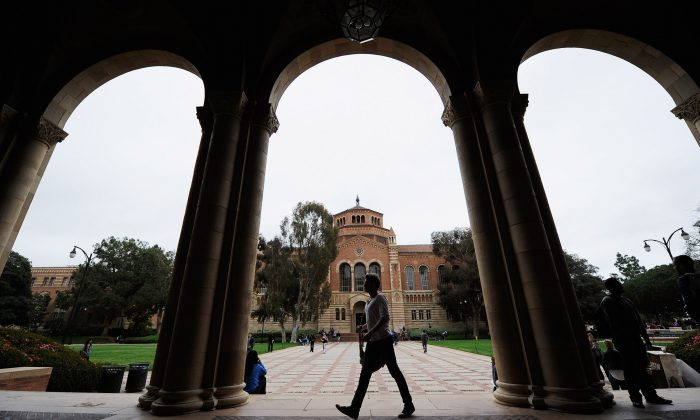The Royce Hall on the campus of UCLA in Los Angeles on April 23, 2012. (Kevork Djansezian/Getty Images)