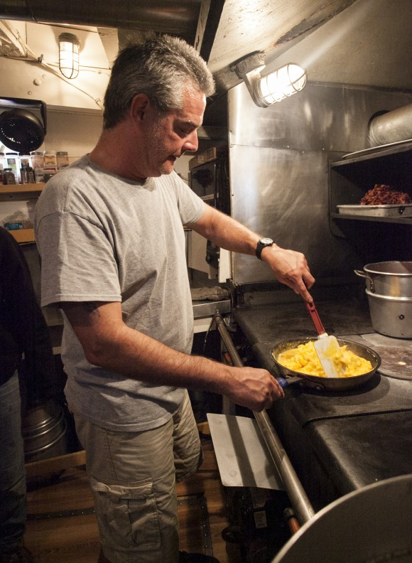 Chef James Tompkins cooking on