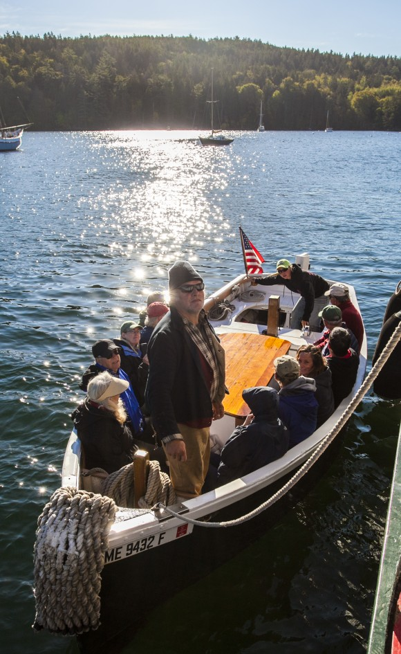 Morning excursions, here to North Haven Island, provide a chance to stretch one's legs. (Channaly Philipp/Epoch Times)