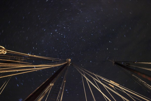 A blanket of stars lights up the Maine sky, seen from the deck of the Victory Chimes. (Channaly Philipp/Epoch Times)