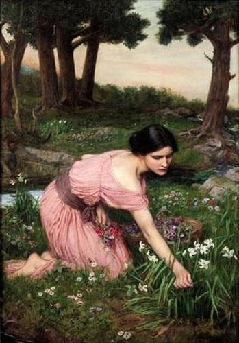 """Spring Spreads One Green Lap of Flowers"" by John William Waterhouse. (public domain)"