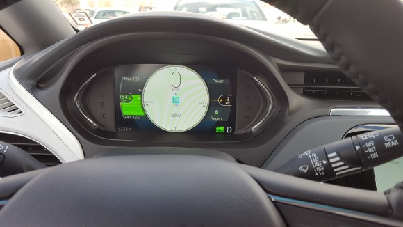 Dashboard of Chevrolet Bolt EV Premier (Courtesy of David Taylor)