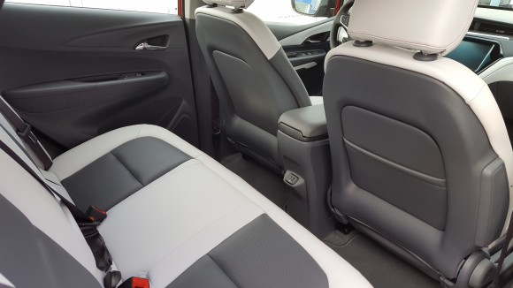 Interior (rear) Chevrolet Bolt EV Premier  (Courtesy of David Taylor)