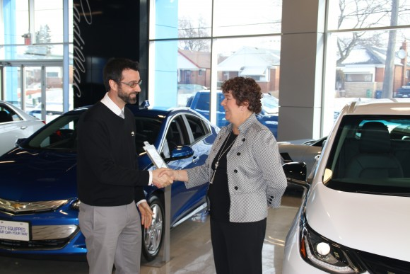 Nicolas Longpre, Chevrolet Brand Manager and Samantha Mesrobian (Courtesy of David Taylor)