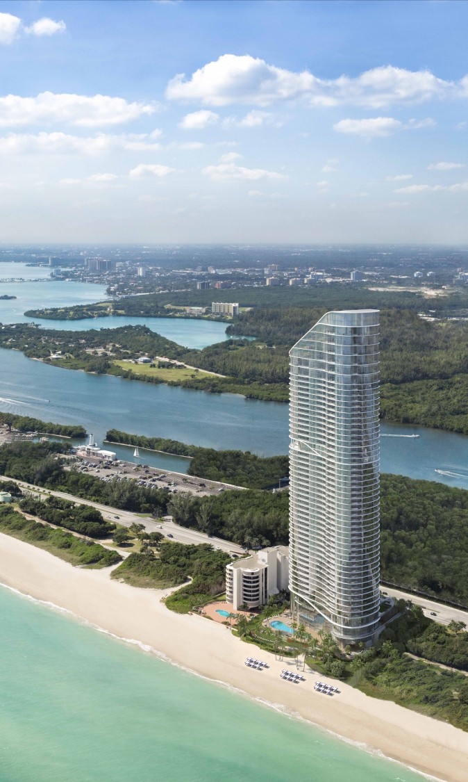 Rendering of The Ritz-Carlton Residences, Sunny Isles Beach, developed by Fortune International Group and Château Group. (Courtesy Pordes Residential)
