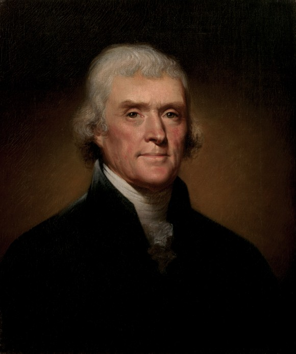 Official Presidential portrait of Thomas Jefferson. (public domain)