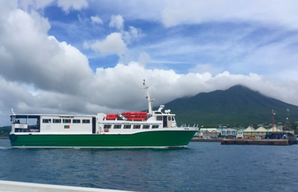 The ferry that runs between Nevis and St. Kitts. (Janna Graber)