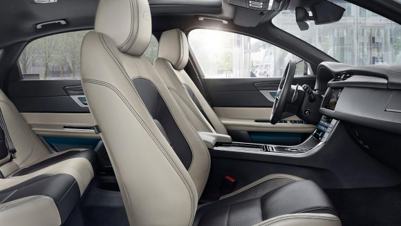 The posh interior of the XF. (Courtesy of Jaguar)