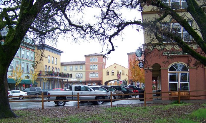 The town square and local shopping area in Windsor, California, Dec. 24, 2008. (Rojer/Flikr)