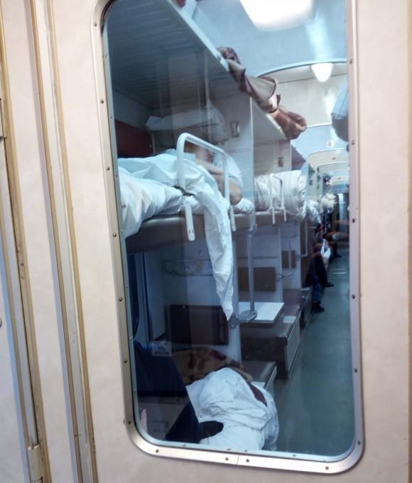 Trans-Siberian-train - 3rd-class compartment. (Vlatka Jovanovic)