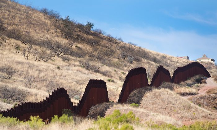 A section of the southwest border fence is seen in Nogales, Arizona, on February 17, 2017. (JIM WATSON/AFP/Getty Images)
