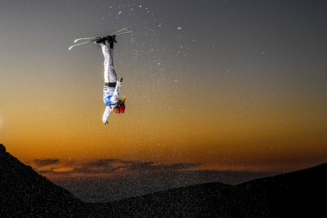 Catrine Lavallée of Canada competes during the Women's Aerials Final on day three of the FIS Freestyle Ski and Snowboard World Championships 2017 in Sierra Nevada, Spain, on March 10, 2017. (David Ramos/Getty Images)