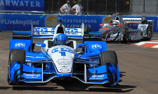 The best-placed Chevrolet driver was last year's champion, Simon Pagenaud, in the #1 Penske car. (Chris Jasurek/Epoch Times)