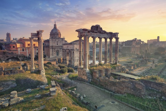 The Roman Forum in Rome, during sunrise. (Rudy Balasko/Shutterstock)
