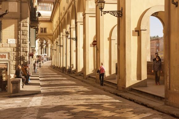 Lungarno degli Acciaiuoli Street in Florence, Rome. (Roxana Bashyrova/Shutterstock)
