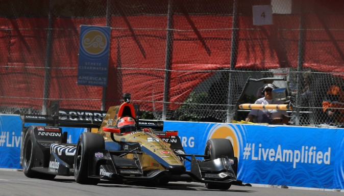 SPM's James Hinchcliffe was second quickest in Session 3. (Chris Jasurek/Epoch Times)