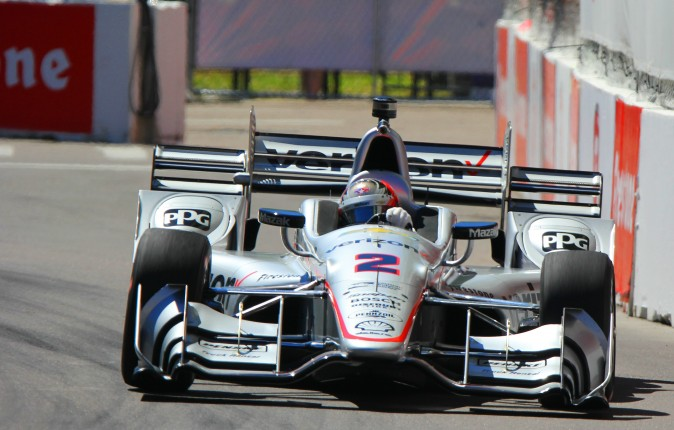 Penske's Josef Newgarden was the quickest of the Chevrolets in Session 3. (Chris Jasurek/Epoch Times)