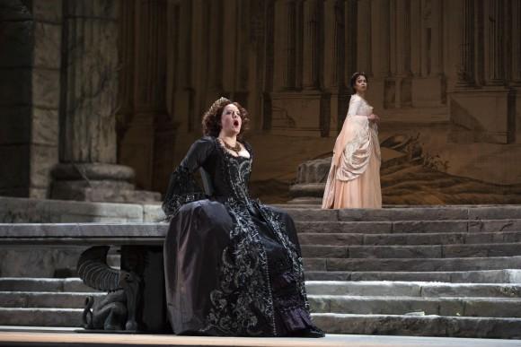 Elza van den Heever as Elettra and Nadine Sierra as Ilia in Mozart's Idomeneo. (Marty Sohl/Metropolitan Opera)
