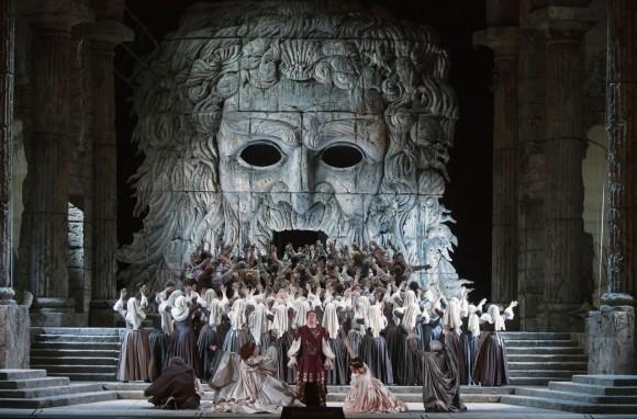 A scene from Mozart's Idomeneo. (Marty Sohl/Metropolitan Opera)