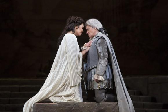 Nadine Sierra as Ilia and Alice Coote as Idamante in Mozart's Idomeneo. (Marty Sohl/Metropolitan Opera)