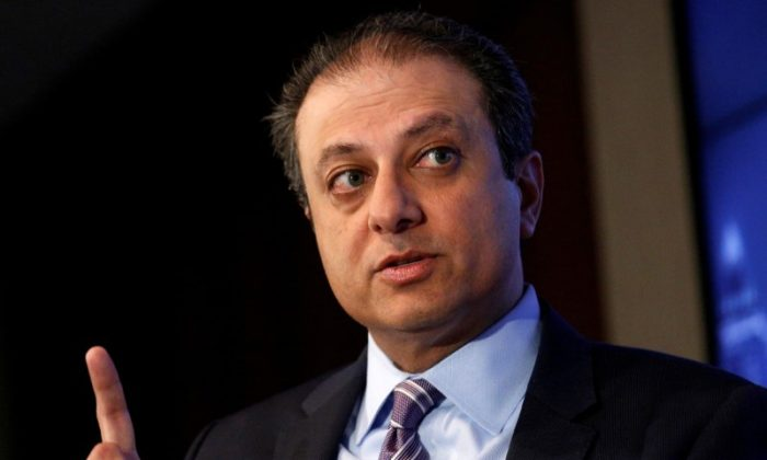 U.S. Attorney for the Southern District of New York Preet Bharara speaks during a Reuters Newsmaker event in New York on July 13, 2016.  (REUTERS/Brendan McDermid/File photo)