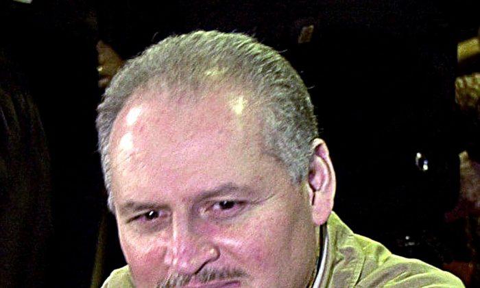 Venezuelan international terrorist Carlos the Jackal whose real name is Ilich Ramirez Sanchez is seated in a Paris courtroom on Nov. 28, 2000. (AP Photo/Michel Lipchitz)