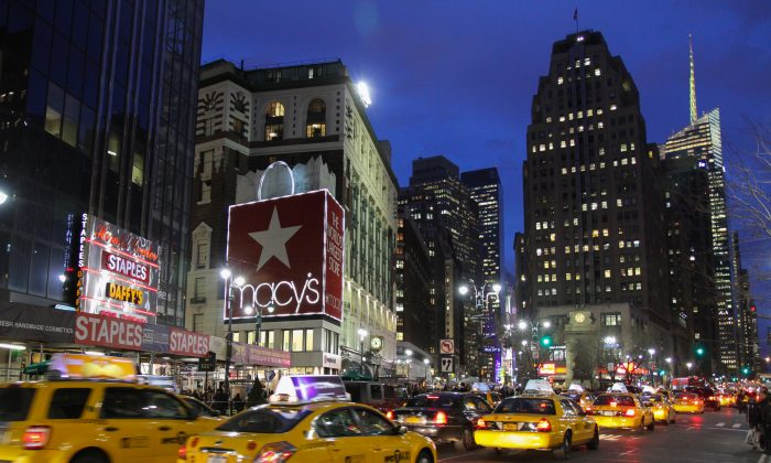 Macy's flagship store at Herald Square in New York on March 26, 2012. (Benjamin Chasteen/Epoch Times)