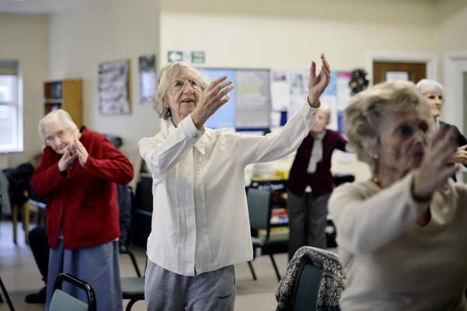 Elderly people take part in a Tai Chi Class. (Bethany Clarke/Getty Images)