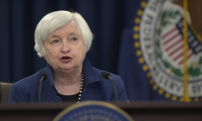 Federal Reserve Chair JanetYellenspeaks during a news conference in Washington on March 15, 2017. She said the Fed has enough time to react to changes in fiscal policy from the Trump administration. (AP Photo/Susan Walsh)