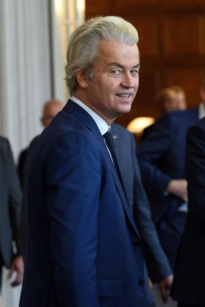 Party for Freedom (PVV) leader Geert Wilders attends a meeting of Dutch political party leaders at the House of Representatives in The Hague, Netherlands on March 16, 2017. (Carl Court/Getty Images)