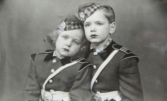 Ildiko Trien (nee Brayer), 5, and her brother Csaba Brayer, 9, did some Scottish dancing when they first joined the Krately Circus in Romania in 1948. (Samira Bouaou/Epoch Times)