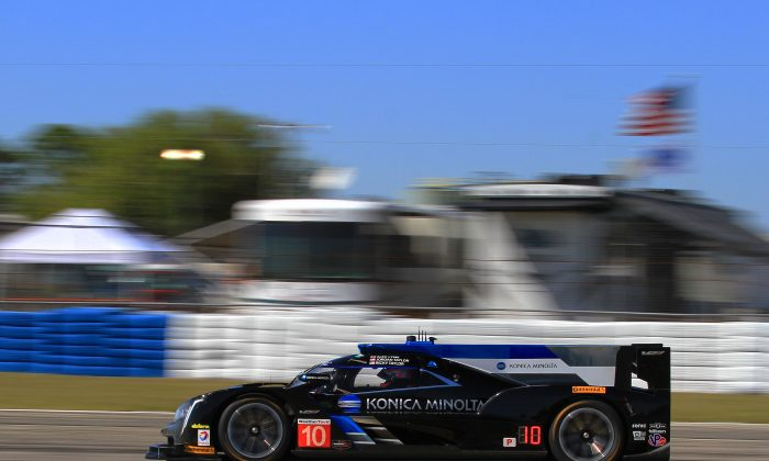 Jordan Taylor in the #10 Konica Cadillac DPi V.R was quickest in the second practice session. (Chris Jasurek/Epoch Times)
