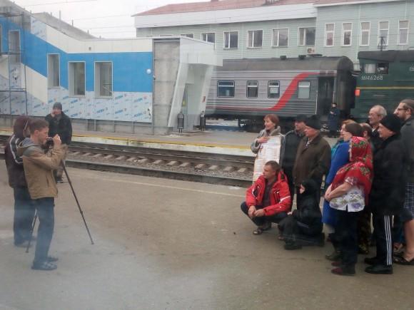 Family traveling on the Trans-Siberia train. (Vlatka Jovanovic)