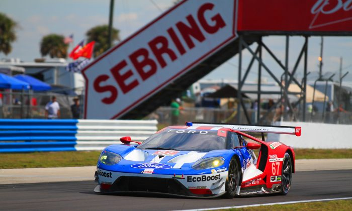 "Ryan Briscoe is no longer a ""former IndyCar star;"" he has become a legitimate sportscar racing star, as his GTLM pole at Sebring proves. (Chris Jasurek/Epoch Times)"