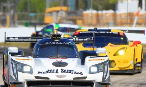 Mustang Sampling Cadillac Leads Halfway Through IMSA Twelve Hours of Sebring