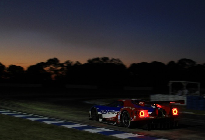Joey Hand in the #66 Ford GT lead a Ford sweep of GT Le Mans. (Chris Jasurek/Epoch Times)