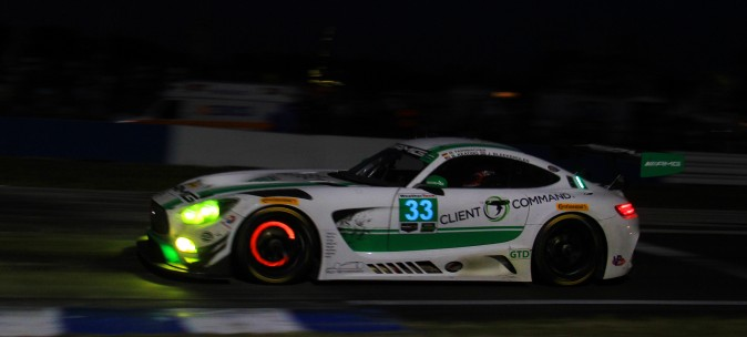 Jeroen Bleekemolen in the Riley Motorsports-Team AMG Mercedes-AMG GT3 leads in GTD. (Chris Jasurek/Epoch Times)