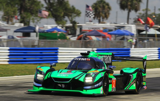 2016 Sebring winner Pipo Derani in the #2 Extreme Speed Motorsports Nissan DPi failed to qualify because of transmission troubles. (Chris Jasurek/Epoch Times)