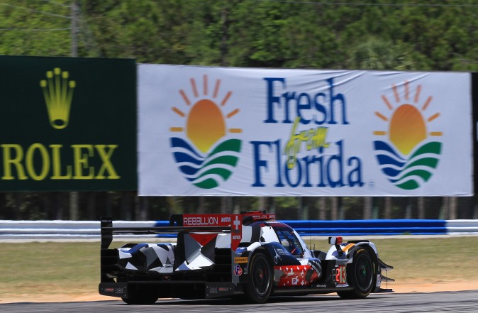 Driver Neel Jani seemed surprised to have taken the pole from the Cadillacs. (Chris Jasurek/Epoch Times)